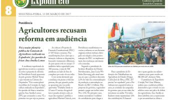 Jornal do Comércio: Agricultores recusam reforma em audiência