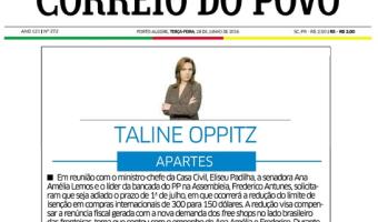 Correio do Povo: Taline Oppitz - Free shops