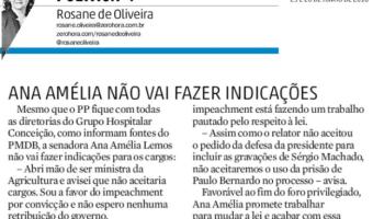 Zero Hora: Política +: Ana Amélia não vai fazer indicações