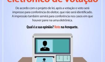 Projeto da senadora Ana Amélia propondo impressão de votos nas urnas eletrônicas é tema de enquete do DataSenado