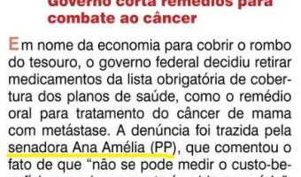 O Sul: Flavio Pereira - Governo corta remédios para combater câncer