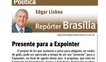Jornal do Comércio: Edgar Lisboa - Presente para a Expointer