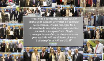 Prefeitos de diversos municípios gaúchos visitam o gabinete da senadora Ana Amélia