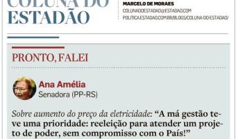 O Estado de São Paulo: Aumento da eletricidade pela ex-presidente Dilma
