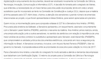 Repórter Brasília: Edgar Lisboa - Projeto sobre a importância da certificação digital ganha força no Senado