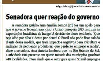 Jornal do Comércio: Edgar Lisboa - Senadora quer reação do governo