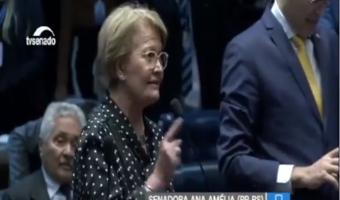 Ana Amélia rebate ataques de senador alagoano