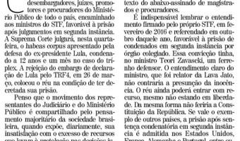 Em artigo no Correio do Povo, Ana Amélia analisa riscos de manter soltos condenados em segunda instância