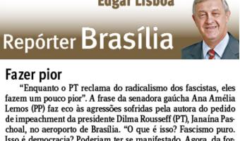 Jornal do Comércio: Edgar Lisboa - Fazer pior