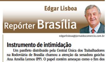 Jornal do Comércio: Edgar Lisboa - Instrumento de intimidação