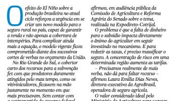 Zero Hora: Campo Aberto - TESOURA PASSOU MAIS AFIADA NO SEGURO