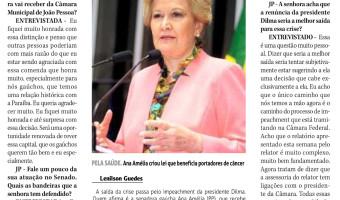 Jornal da Paraíba: Senadora recebe título de cidadã pessoense