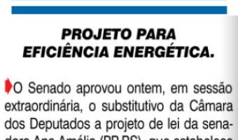 O Sul: Projeto para eficiência energética
