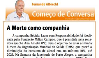 Jornal do Comércio: Fernando Albrecht - A morte como companhia