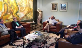 Ana Amélia visita Jornal do Comércio e Grupo Sinos, em Novo Hamburgo