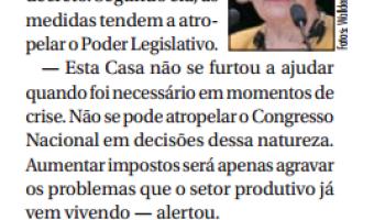 Jornal do Senado: Ana Amélia- aumento de imposto só piorará crise