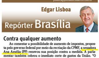 Jornal do Comércio: Edgar Lisboa - Contra qualquer aumento