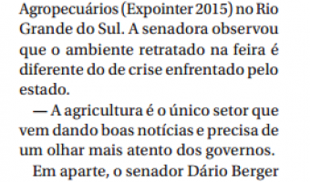 Jornal do Senado: Ana Amélia: Expointer destoa de crise no RS