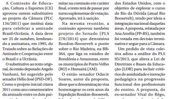 Jornal do Senado: Avança projeto sobre Dia da Amizade Brasil-Ucrânia