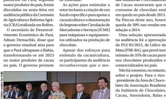 Jornal do Senado: Pará age para superar Bahia na produção de cacau