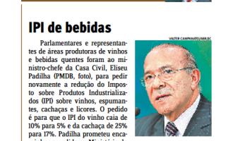 Jornal do Comércio: Edgar Lisboa - IPI de bebidas