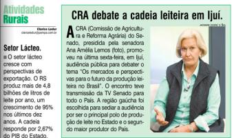 O Sul: CRA debate a cadeia leiteira em Ijuí