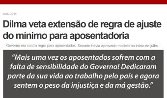 Ana Amélia critica veto do governo federal ao reajuste pelas regras do salário mínimo a todos os aposentados