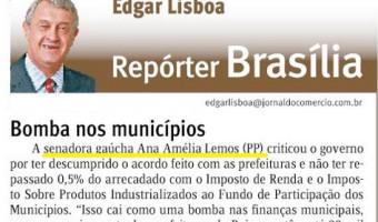 Jornal do Comércio: Edgar Lisboa - Bomba nos municípios