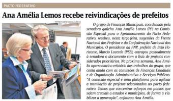 Jornal do Comércio: Ana Amélia recebe reivindicações de prefeitos