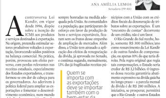 Zero Hora: Quem se importa com as exportações, por Ana Amélia Lemos