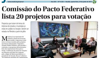 Jornal do Senado: Comissão do Pacto Federativo lista 20 projetos para votação