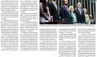 Jornal do Senado: Plenário homenageia Defensoria Pública