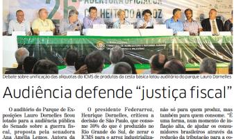 """Correio do Povo: Audiência defende """"justiça fiscal"""""""