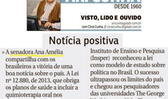 Correio Braziliense - Ari Cunha: Notícia positiva