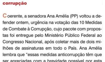 O Sul: Flavio Pereira - Ana Amélia insiste nas medidas contra a corrupção