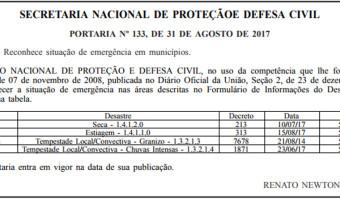 Secretaria Nacional da Defesa Civil reconhece decreto de emergência em Lagoa Vermelha por conta do granizo