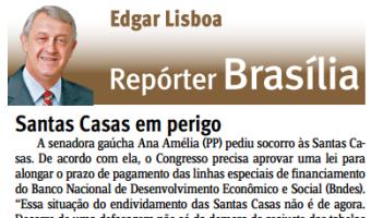 Jornal do Comércio: Edgar Lisboa - Santas Casas em perigo