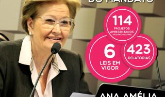 Ana Amélia é autora de cinco leis e uma emenda já em vigor