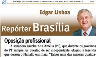Jornal do Comércio: Edgar Lisboa - Oposição profissional