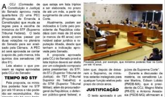 O Sul: Comissão do Senado aprova mudar o sistema de escolha dos ministros do Supremo: Proposta de mandato de dez anos precisa passar por dois turnos no plenário antes de ir à Câmara dos Deputados.
