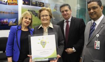 Lei que destina recursos a programa de eficiência energética rende homenagem à senadora