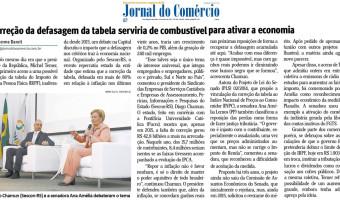 Jornal do Comércio: Correção da defasagem da tabela serviria de combustível para ativar a economia