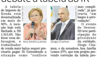 Correio do Povo: Encontro do Sescon debate tabela do IR