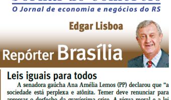 Jornal do Comércio: Edgar Lisboa - Leis iguais para todos
