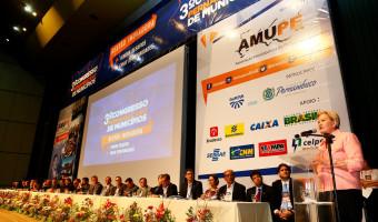 Senadora reforça seu compromisso com o municipalismo no 3º Congresso da Amupe, em Pernambuco