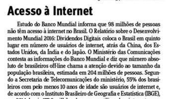 Jornal do Comércio: Edgar Lisboa - Acesso à internet
