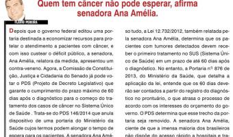 O Sul: Flavio Pereira - Quem tem câncer não pode esperar, afirma senadora Ana Amélia