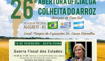 Convite para a audiência da Comissão de Agricultura e Reforma Agrária do Senado (CRA), no dia 19 de fevereiro, em Alegrete