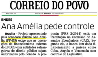 Correio do Povo: Ana Amélia pede controle