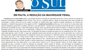 O Sul: Flavio Pereira - Em pauta, a redução da maioridade penal